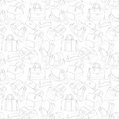 Seamless woman's stylish bags sketch