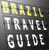 Airport Display Brazil Travel Guide