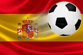 Soccer Ball Leaps Out Of Spanish Flag