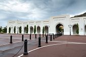 picture of oman  - Place at Sultan Qaboos Palace in Muscat Oman on a cloudy day with rain - JPG
