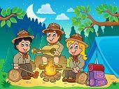 foto of boy scout  - Children scouts theme image 4  - JPG