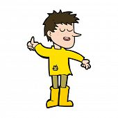 picture of attitude boy  - cartoon poor boy with positive attitude - JPG