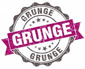Grunge Violet Grunge Retro Vintage Isolated Seal