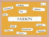 Fashion Corkboard Word Concept
