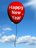 Happy New Year Balloon Shows Parties And Celebration