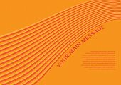 Layout Design Of Smooth Lines Background In Orange Color