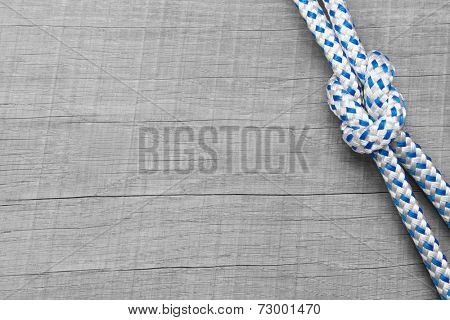 Rigging knots nautical - background wooden maritime