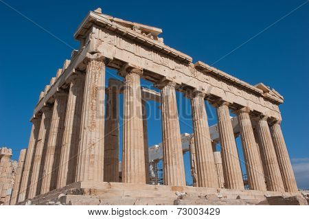 Parthenon On The Acropolis Of Athens