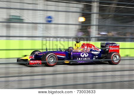 SINGAPORE - SEPTEMBER 20:  Sebastian Vettel,Toro Rosso Renault . Formula One World Championship, Singapore Grand Prix, Marina Bay Street Circuit, Singapore 20th SEPT 2014