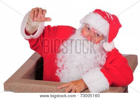Santa Emerging from the Chimney