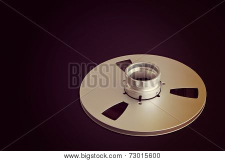 Open Metal Reels With Tape For Professional Sound Recording with NAB adapter