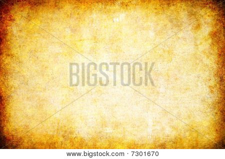 Yellow Grunge Textured Abstract Background