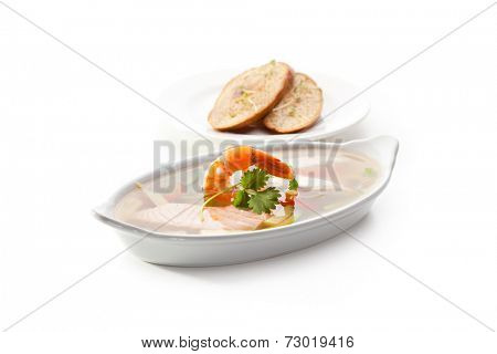Seafood Aspic with Crispy Bread