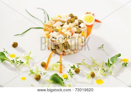 Kids Food - Chicken Salad with Vegetables