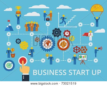 Business Start Up Infographics Template. Vector.