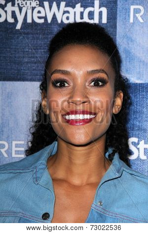 LOS ANGELES - SEP 18:  Annie Ilonzeh at the People Stylewatch Hosts Hollywood Denim Party at The Line on September 18, 2014 in Los Angeles, CA