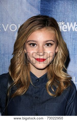 LOS ANGELES - SEP 18:  G. Hannelius at the People Stylewatch Hosts Hollywood Denim Party at The Line on September 18, 2014 in Los Angeles, CA