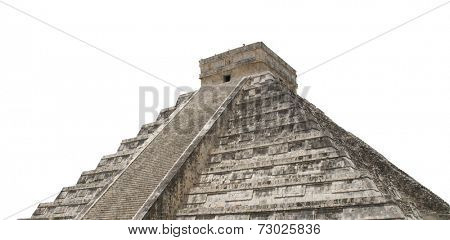 Ancient mayan pyramid of kukulkan in chichen itza;mexico