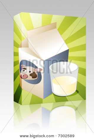 Cow Milk Box Package