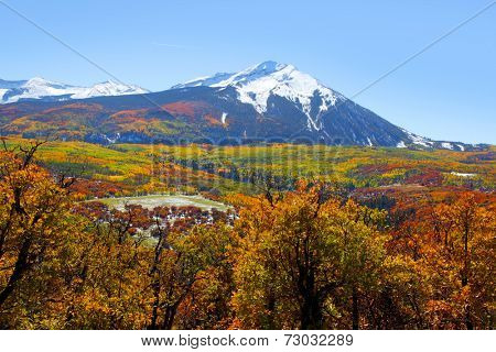Scenic west Beckwith peak in autumn time