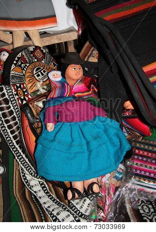 Traditional Bolivian rag doll