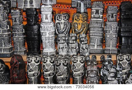 Traditional Aymara ritual figures, Witches Market