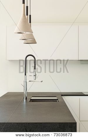 Architecture modern design, interior, domestic kitchen, detail
