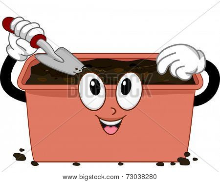 Mascot Illustration Featuring a Compost Bin