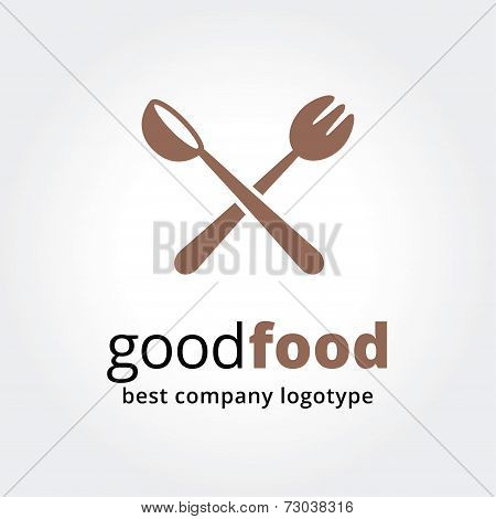 Abstract vector logotype for restaurant concept isolated on white background.Key ideas is business,