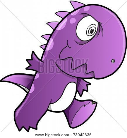 Crazy Insane Dinosaur Vector Illustration Art