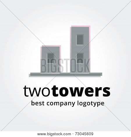 Abstract vector estate logotype concep with house isolated on white background.