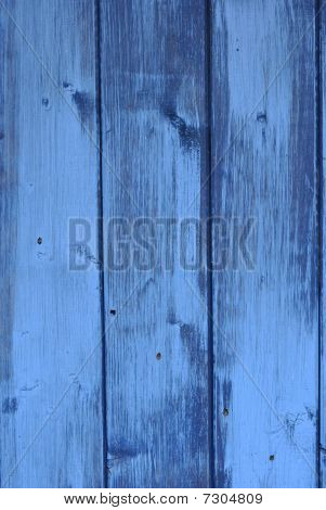 wood painted in blue color
