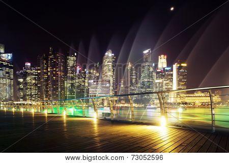 prosperous urban cityscape at night