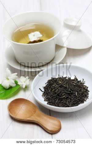 jasmine tea with arabian jasmine flower