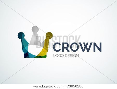 Crown logo, royal symbol, abstract design