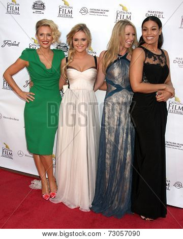 AVALON - SEP 26:  Nicky Whelan, Cassi Thomson, Georgina Rawlings, Jordin Sparks at the