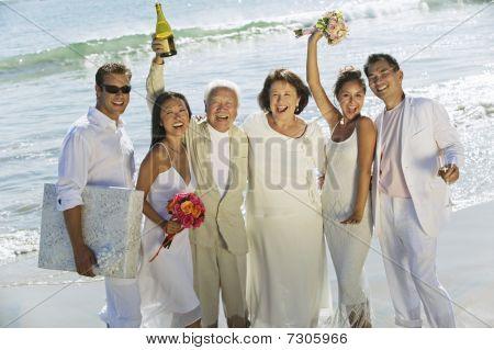 celebrating wedding