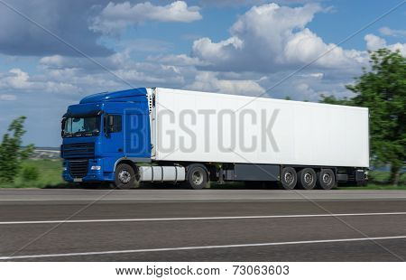 cargo truck go on road