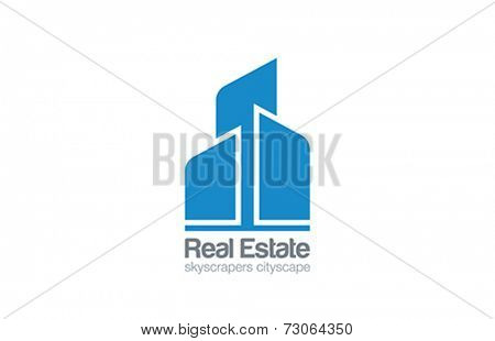 Logo Skyscrapers Real Estate vector design template. Construction Realty icon. Business Commercial property logotype concept.