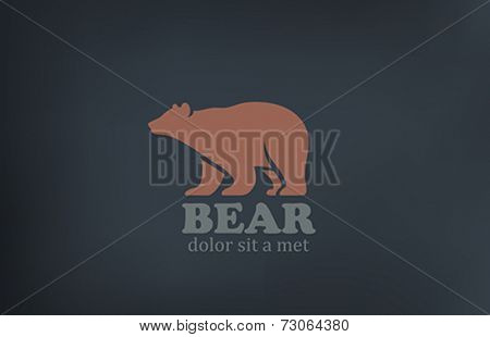 Bear Logo design vector template. Wild animal zoo icon. Stock Exchange logotype concept. Hunting sign.