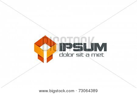 Business Abstract Ribbon Origami shape Logo design vector template. Creative Logotype concept icon.