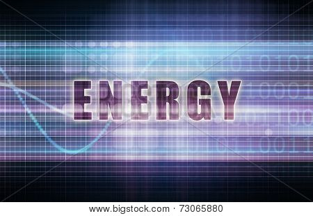 Energy on a Tech Business Chart Art