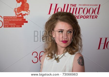 MOSCOW - JUNE, 25: V.G.Germanika. White party Hollywood Reporter Magazine at River Restorant, June 25, 2014 in Moscow, Russia