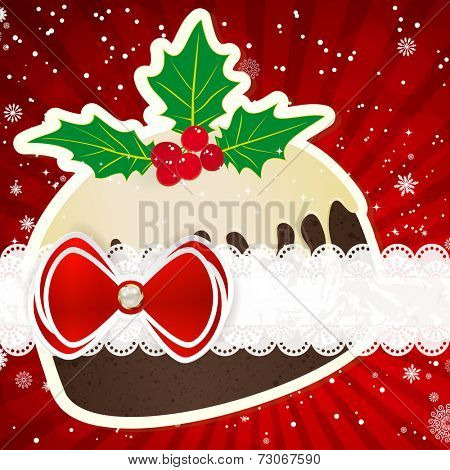 Christmas background with christmas decor elements.