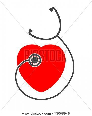 stethoscope heart icon design