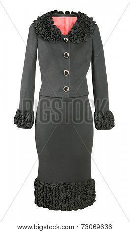 black dress isolated on white