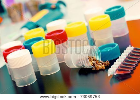 PCR tray in microbiological laboratory