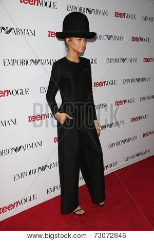 LOS ANGELES - SEP 26:  Zendaya Coleman at the 12th Annual Teen Vogue Young Hollywood Party at Emporio Armani on September 26, 2014 in Beverly Hills, CA