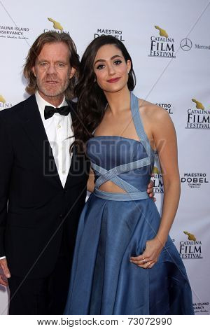 AVALON - SEP 27:  William H. Macy, Emmy Rossum at the Catalina Film Festival Gala at the Casino on September 27, 2014 in Avalon, Catalina Island, CA