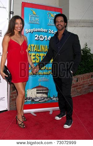 AVALON - SEP 27:  Dana Derrick, Kristoff St. John at the Catalina Film Festival Gala at the Casino on September 27, 2014 in Avalon, Catalina Island, CA